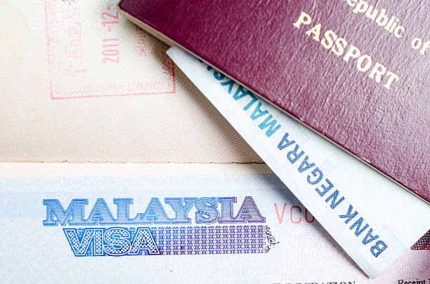 Malaysia visa Malaysia visa pasport malaysia stock pictures, royalty-free photos & images