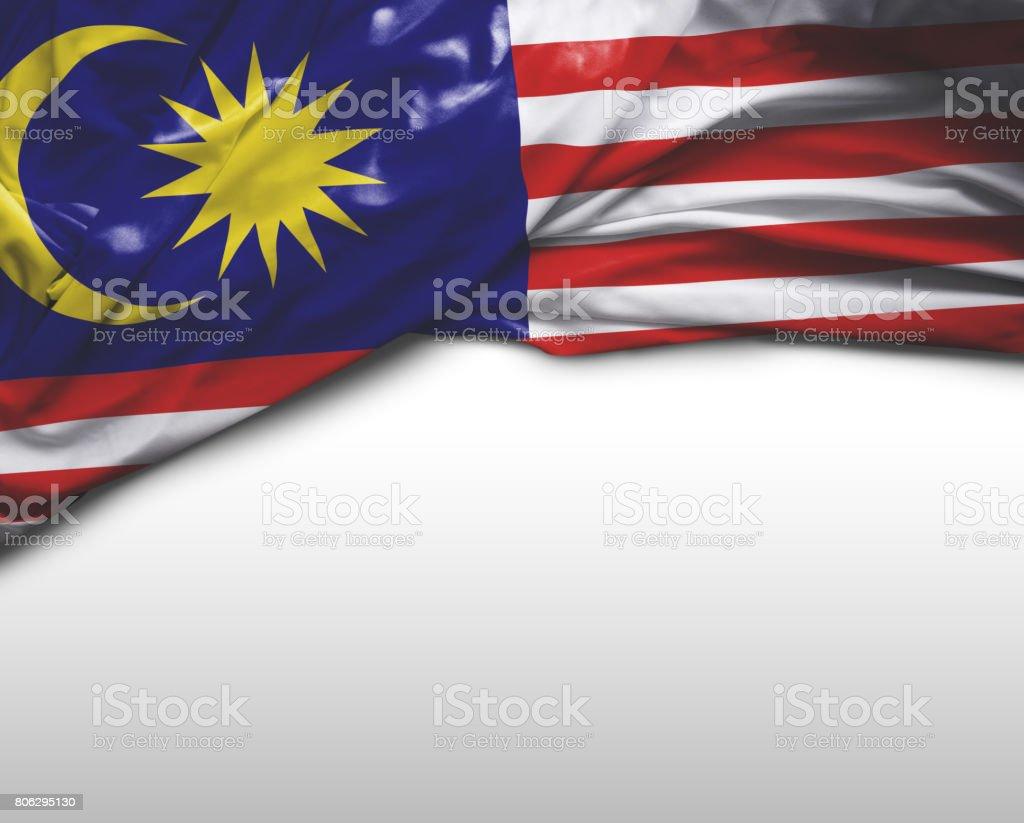 Malásia acenando a bandeira - foto de acervo
