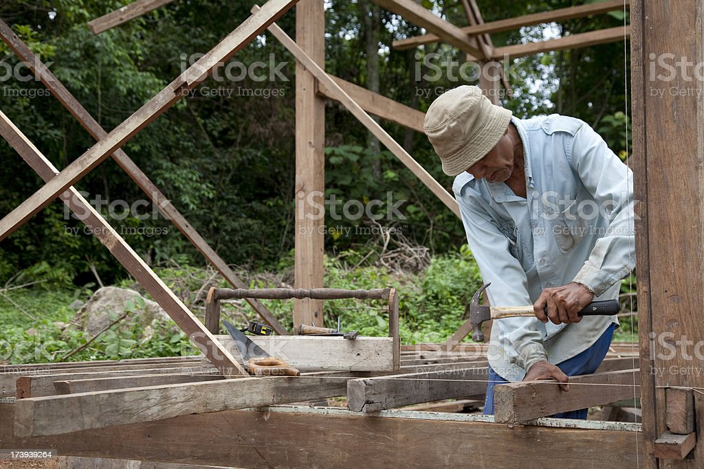 Malaysia, working with tools and building activity. royalty-free stock photo