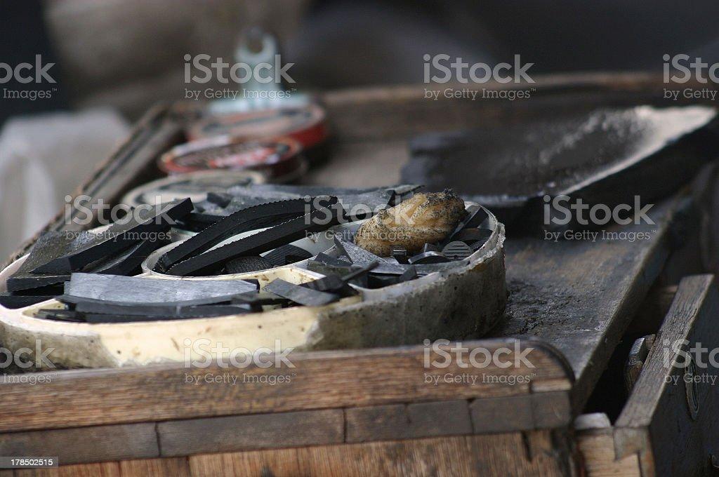 Malaysian Cobbler Toolbox royalty-free stock photo