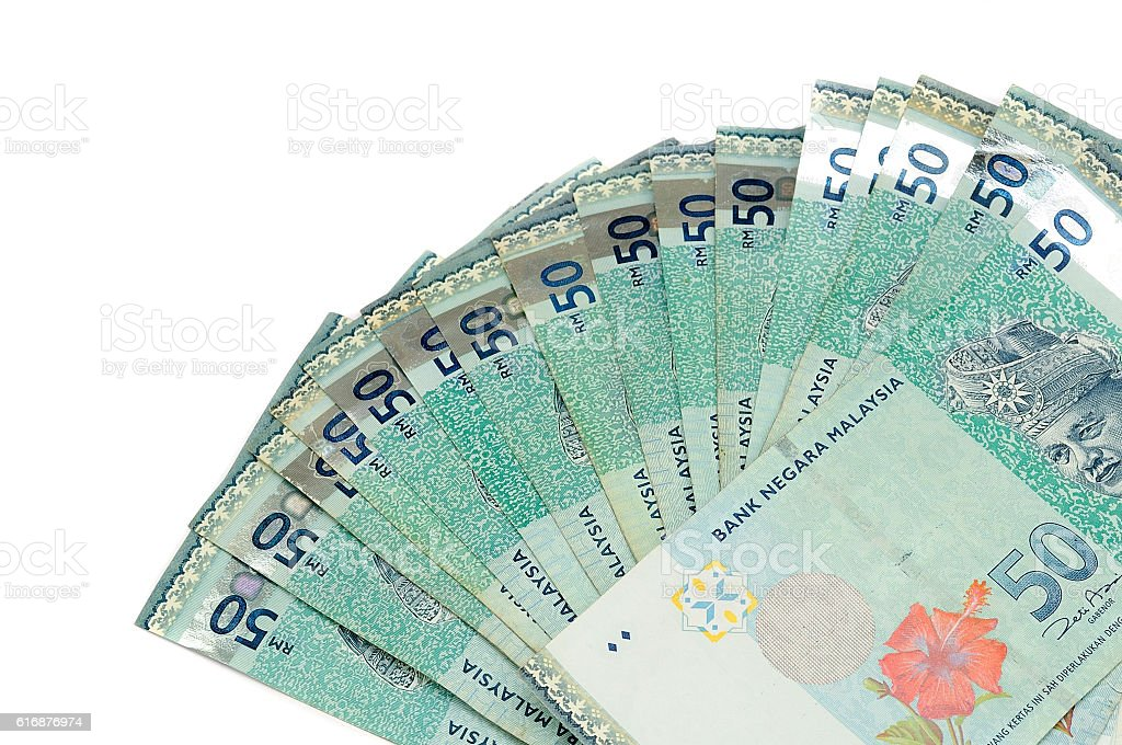Malaysian currency - RM50 stock photo