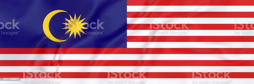 Bandeira bandeira da Malásia - foto de acervo