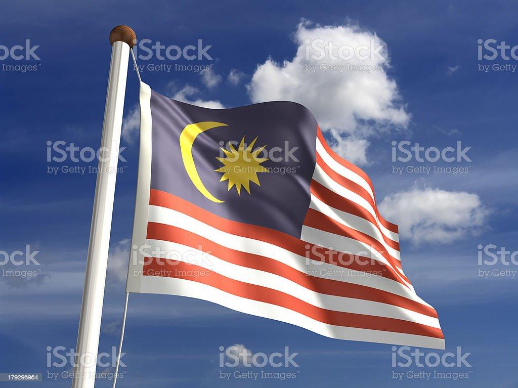 Bandeira Malaia (com Traçado de Recorte - foto de acervo
