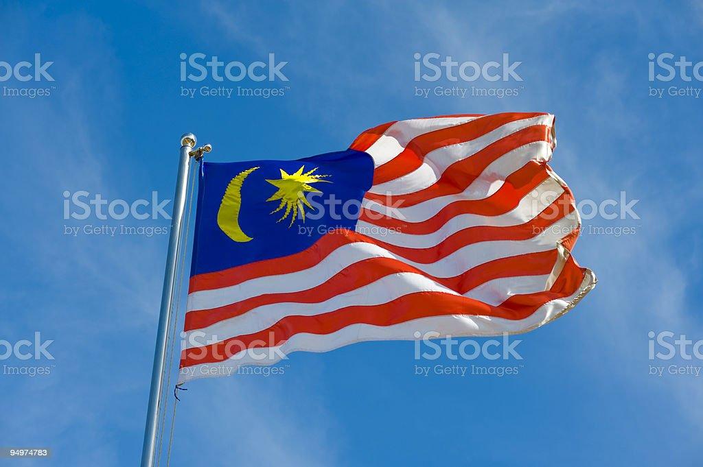 Bandeira Malaia - foto de acervo