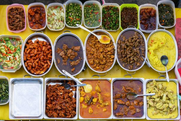 Malaysian Food Buffet stock photo
