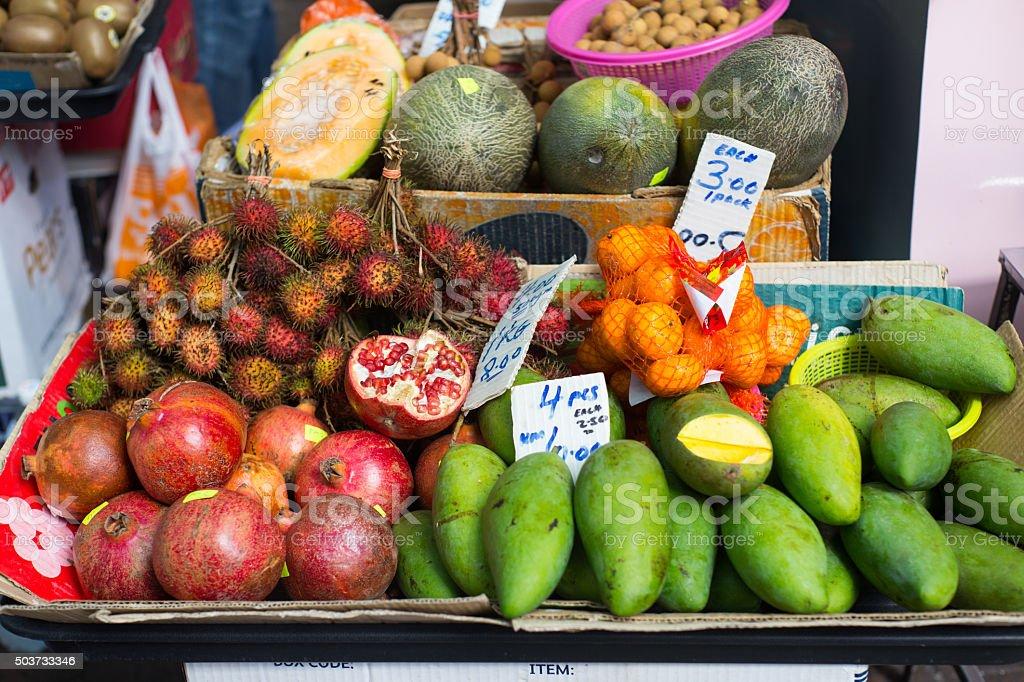 Malaysian Fruits stock photo