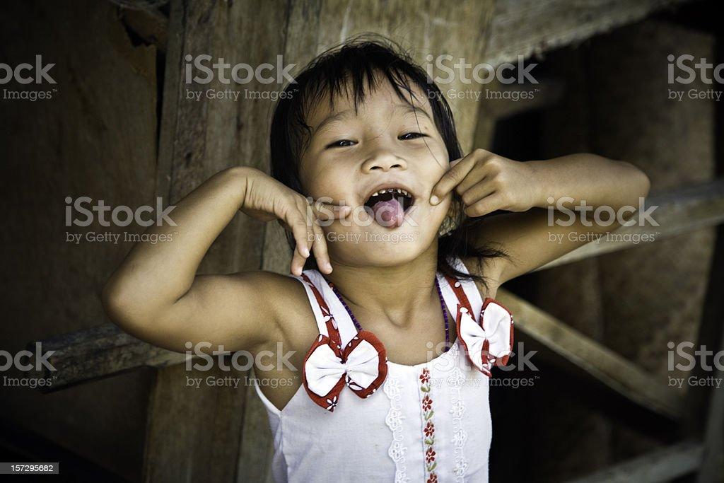 Malaysian girl stock photo