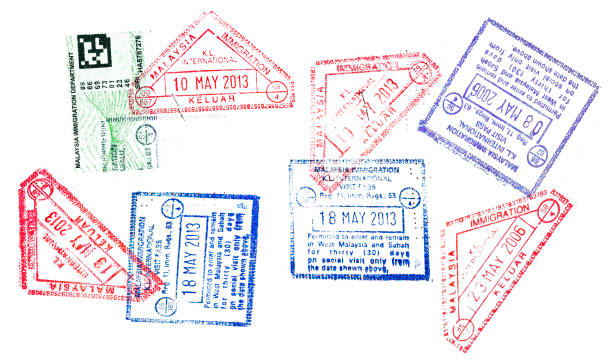 Malaysian passport stamp Malaysian passport stamp pasport malaysia stock pictures, royalty-free photos & images