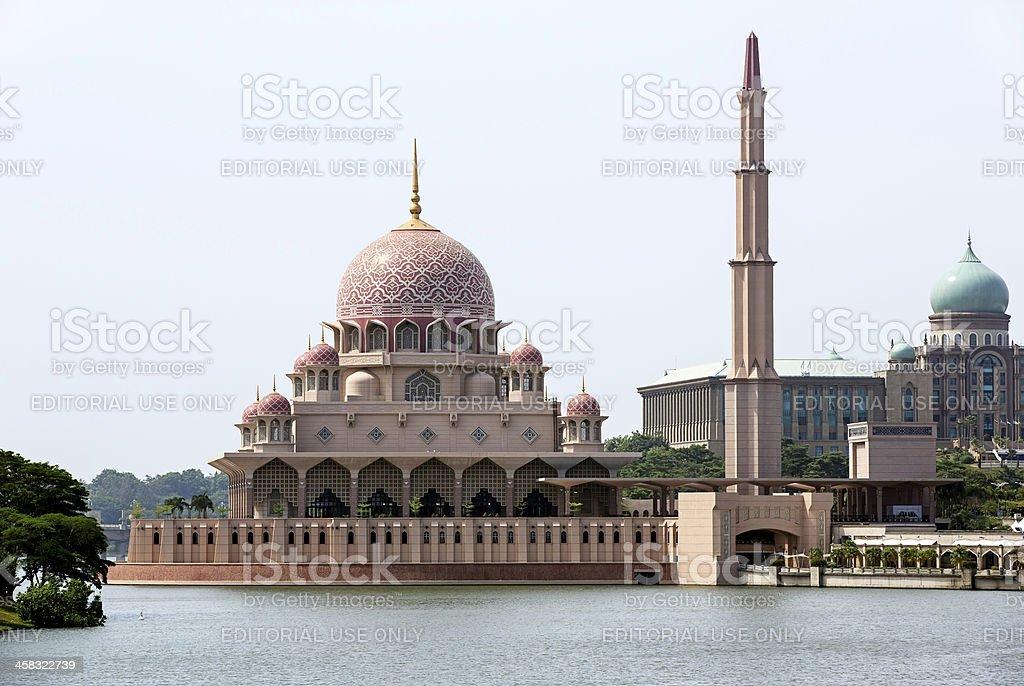 Malaysian Putra Mosque royalty-free stock photo