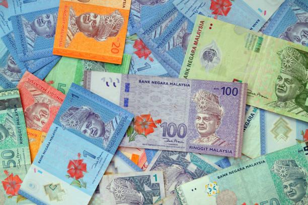 Malaysian ringgit banknote cash background stock photo