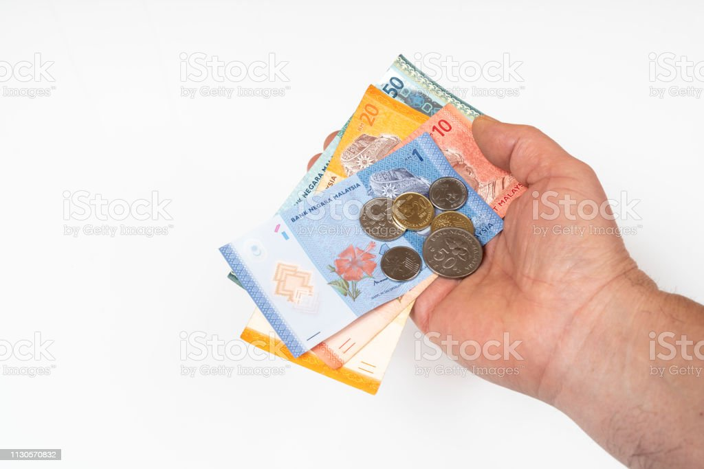 Ringgit da Malásia-notas e moedas - foto de acervo