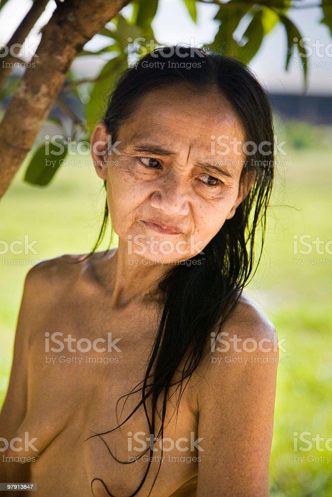 Malaysian woman royalty-free stock photo