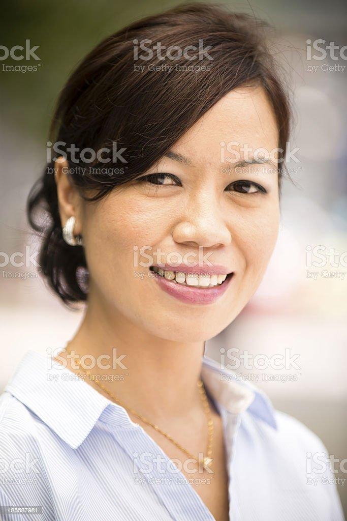 Malaysian Woman Smiling stock photo
