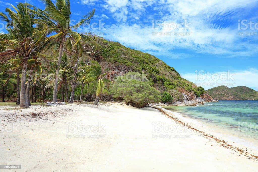 Malcapuya Island beach royalty-free stock photo