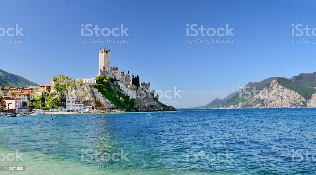 Malcesine (Garda Lake - Italy) royalty-free stock photo