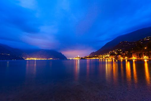 Malcesine town at Garda Lake