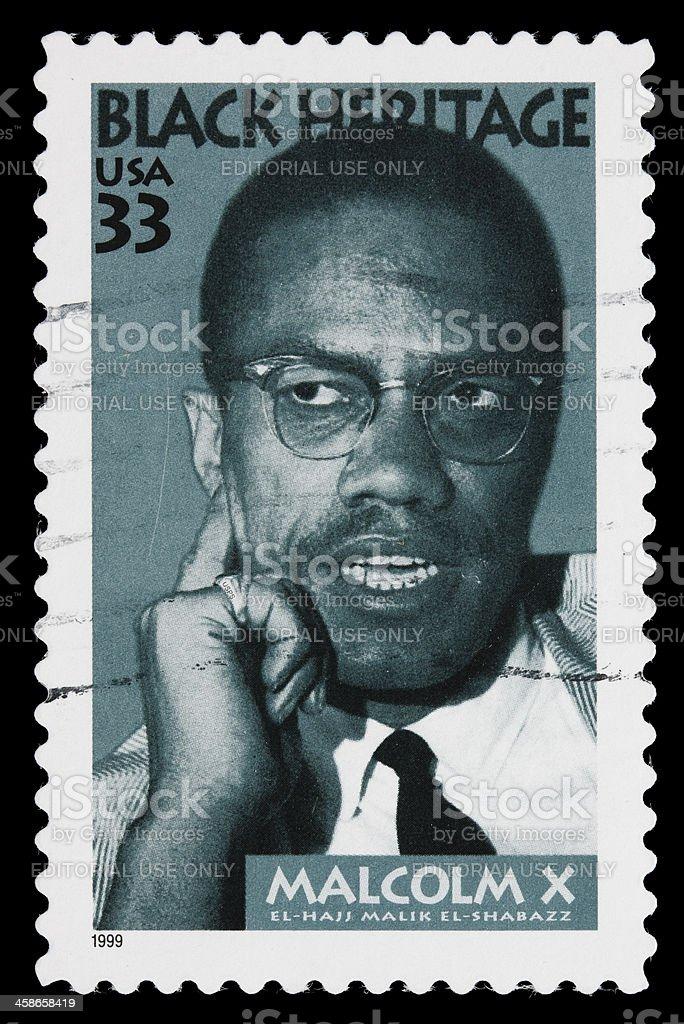 USA Malcolm X postage stamp stock photo