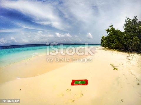 beach and flag