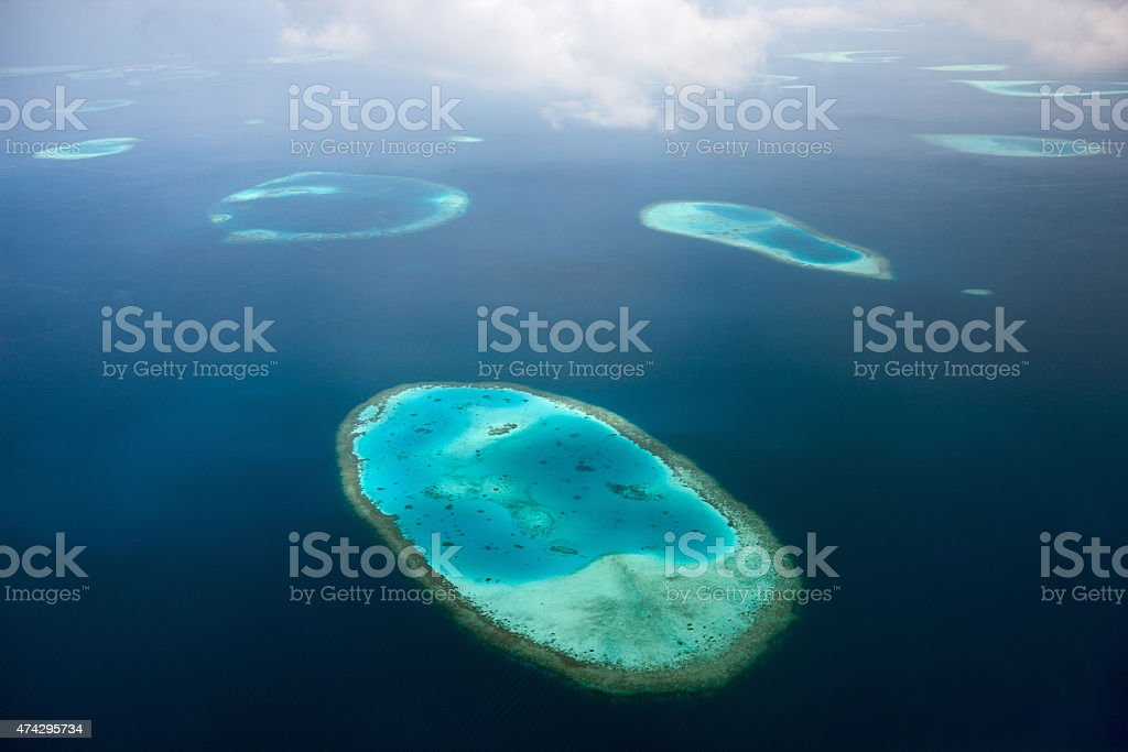 Maldives from above stock photo