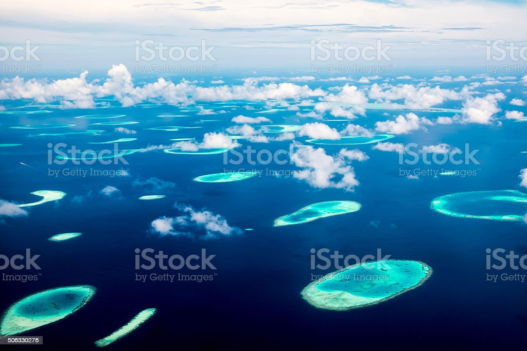Maldives Indian Ocean stock photo