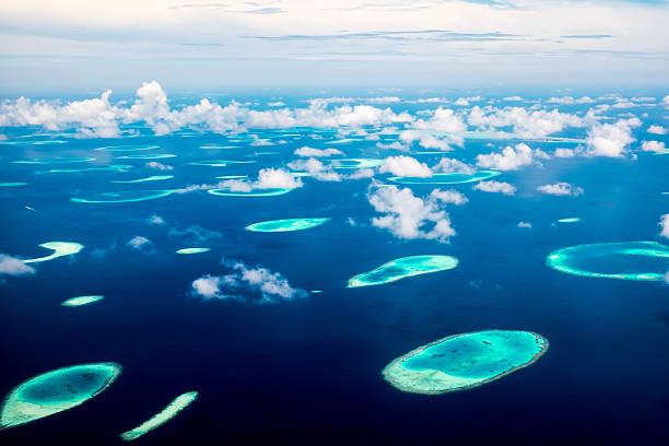 Maldive nell'Oceano Indiano - foto stock