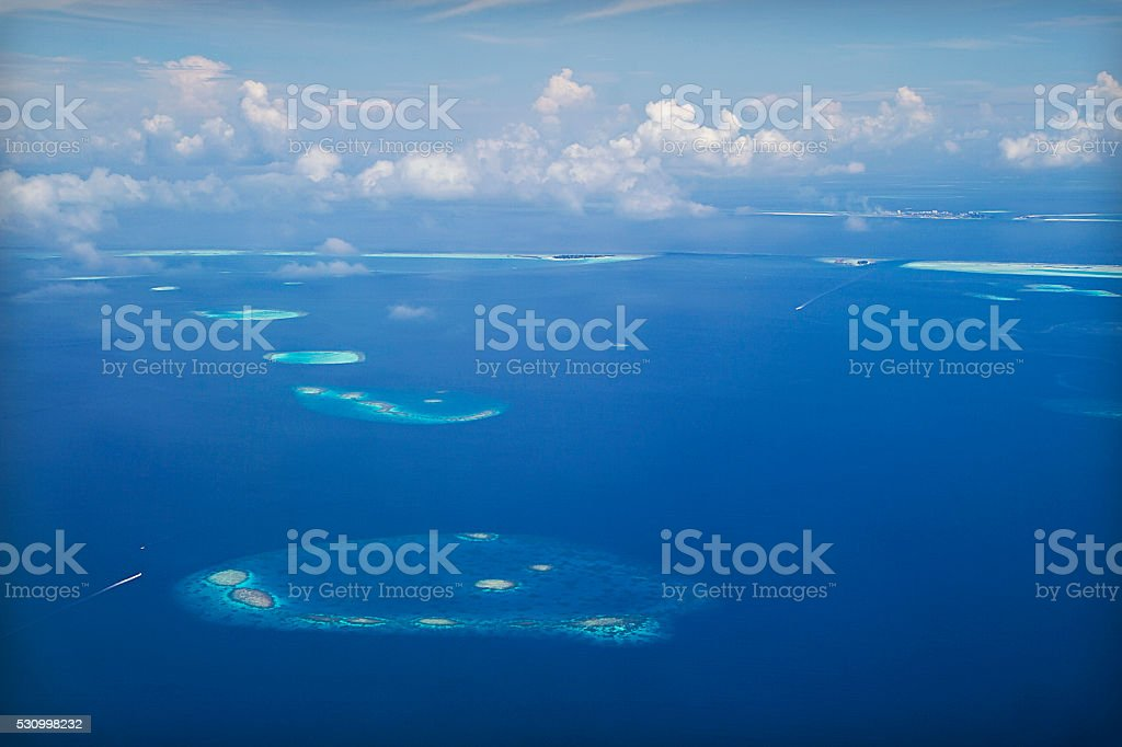 Maldive isola dall'aria - foto stock
