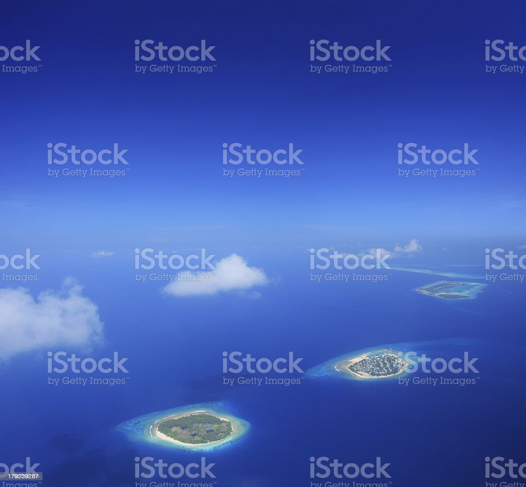 Maldives islands in Indian ocean stock photo