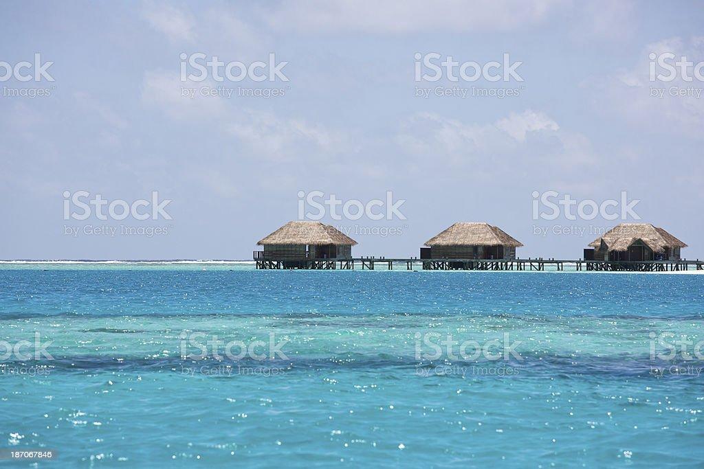 Wyspy Malediwy Prywatne Nad Wodą Bungalowy Na Wiersz
