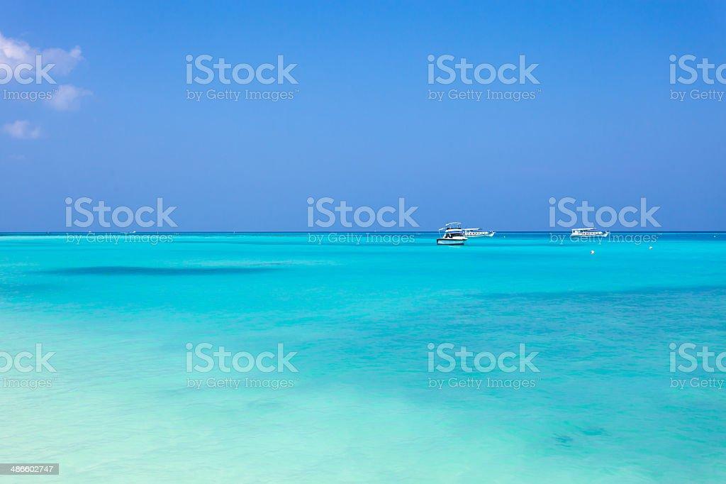 Maldives landscape stock photo