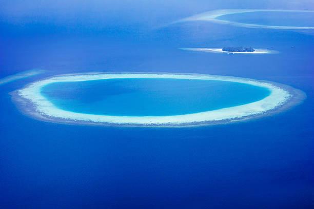 Atollo di Ari Nord, Maldive, gruppo - foto stock