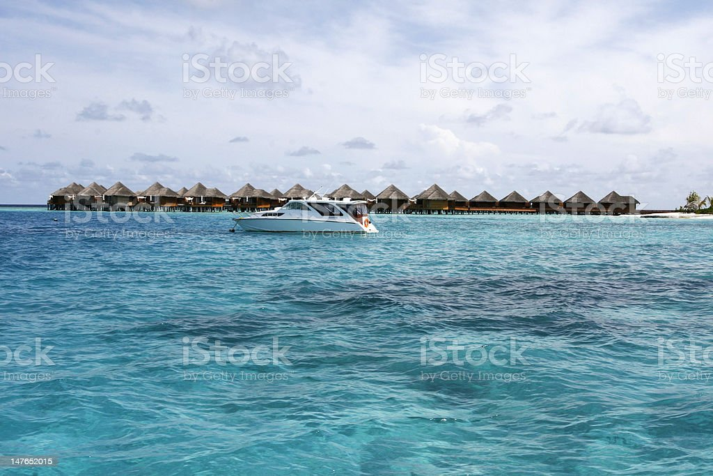 Maldives Overwater Cabana royalty-free stock photo