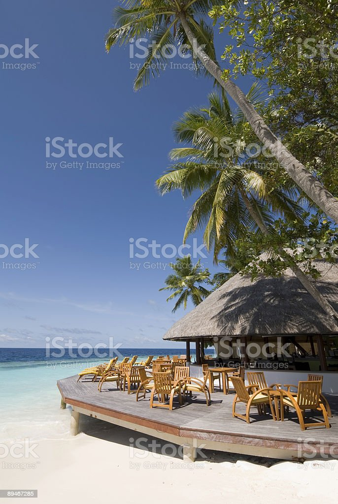 Maldives seascape royalty-free stock photo