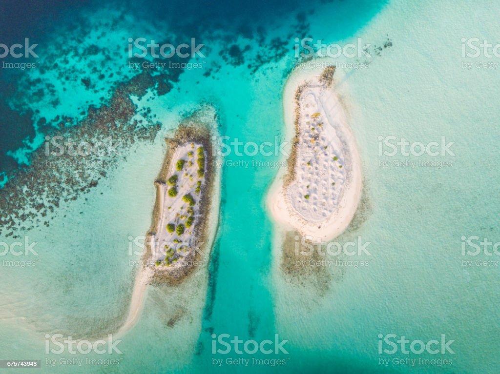 Maldives South Ari Atoll Islets Aerial View stock photo
