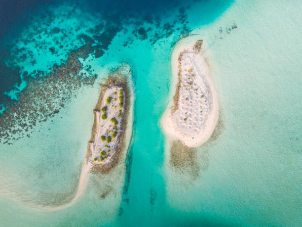 Maldives South Ari Atoll Islets Aerial View - foto stock