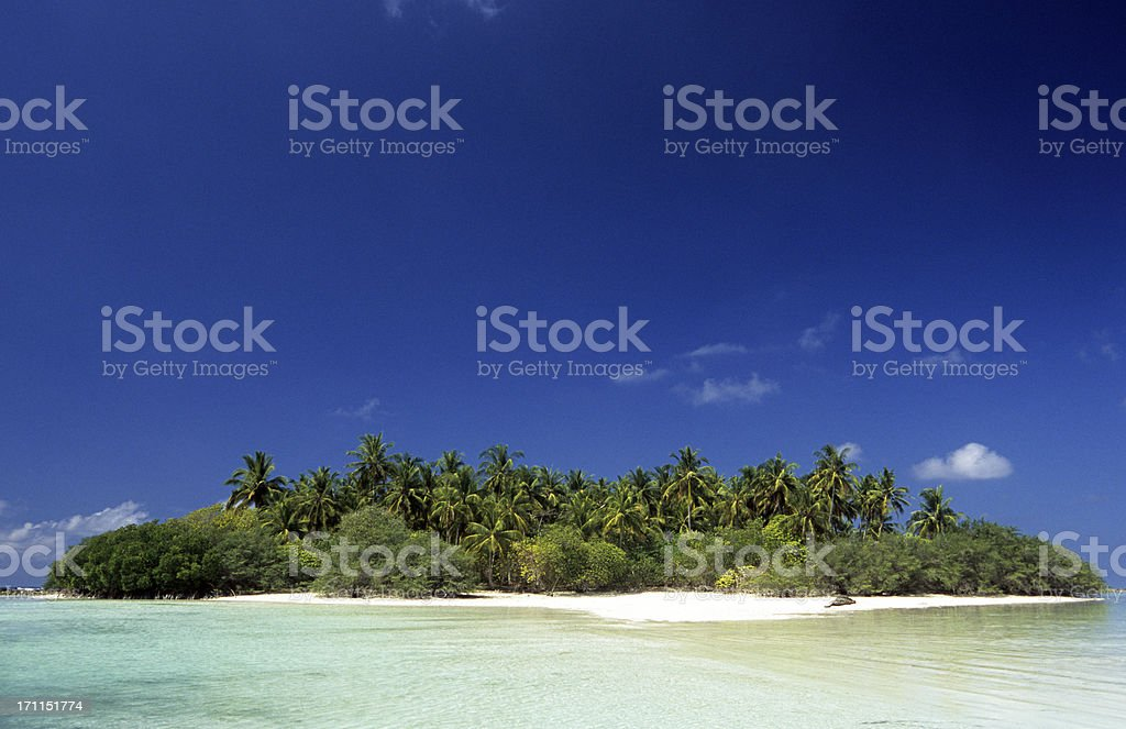 Maldives, southern atolls, Island. royalty-free stock photo