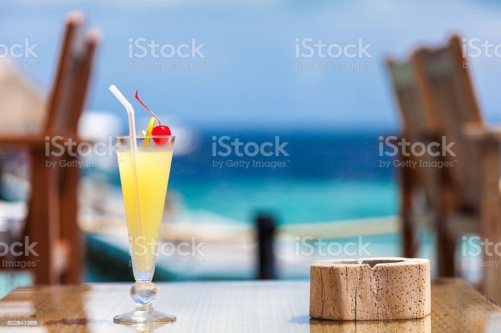Maldives, travel, holiday, cocktail stock photo
