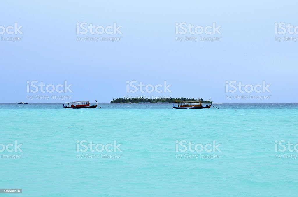 Maldives, Welcome to Paradise! - Royaltyfri Atoll Bildbanksbilder