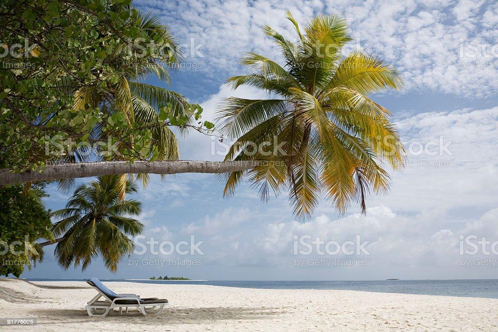 Maldivian beach royalty-free stock photo