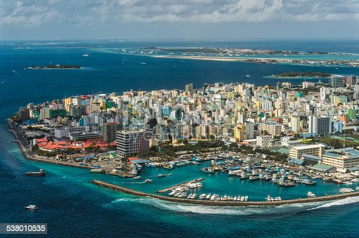 Maldivian capital Male view from above