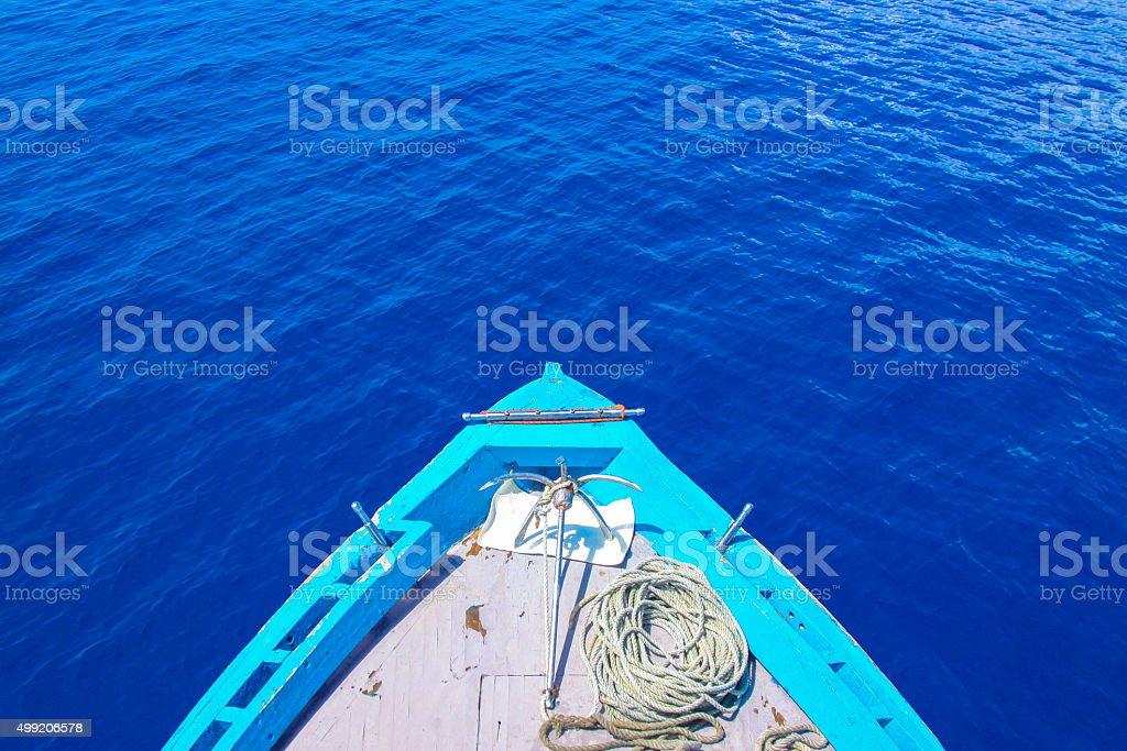 Maldivian Fishing Boat stock photo