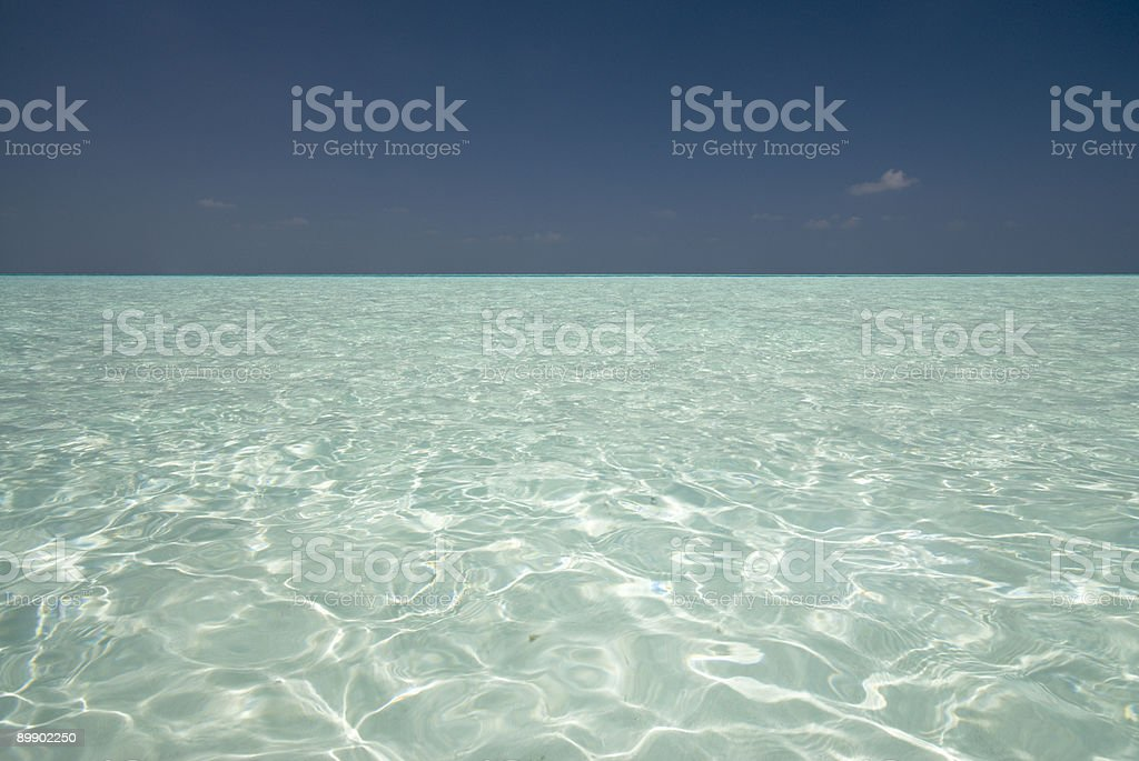 Maldivian Lagoon royalty-free stock photo