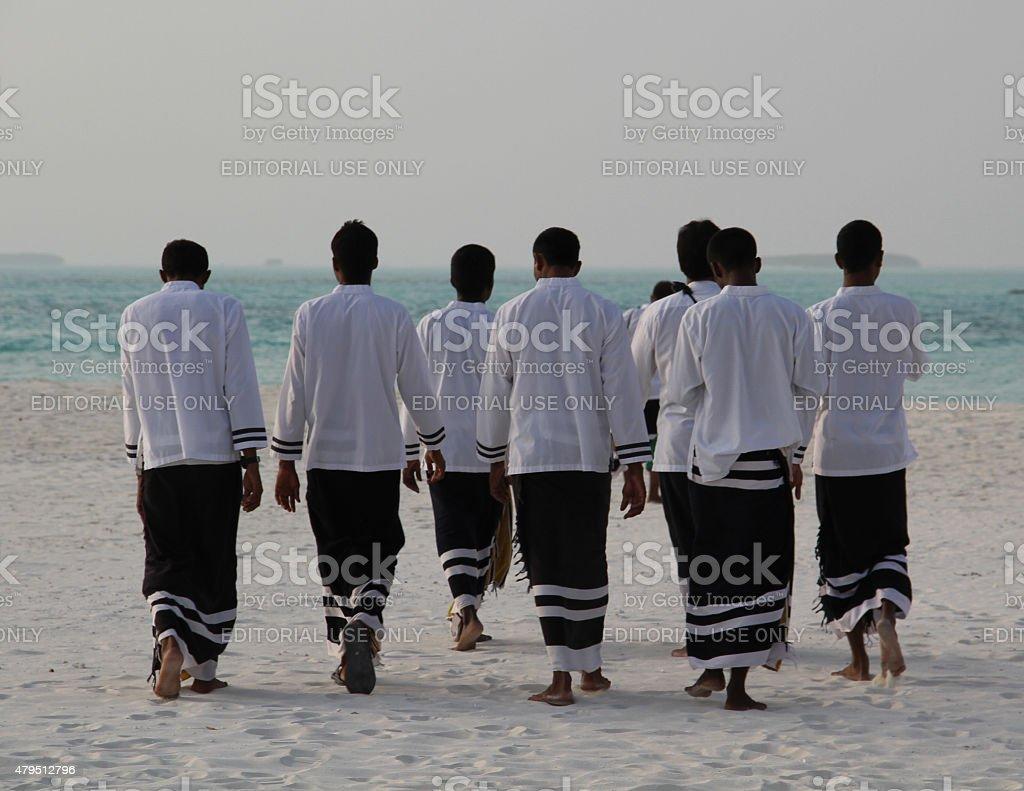 Maldivian musicians stock photo
