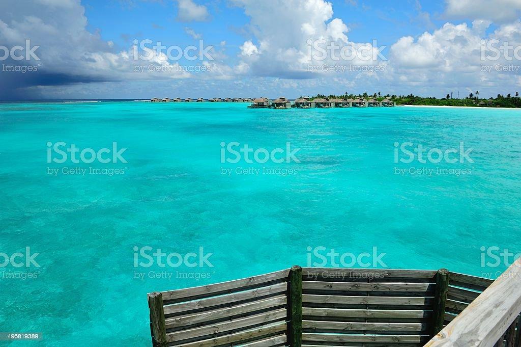 Paradiso isola delle Maldive - foto stock