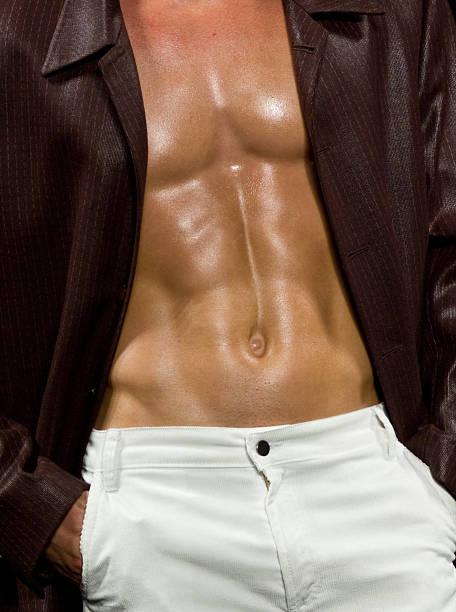 Male abdominals stock photo