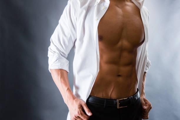 男性の腹筋 - 筋肉 ストックフォトと画像