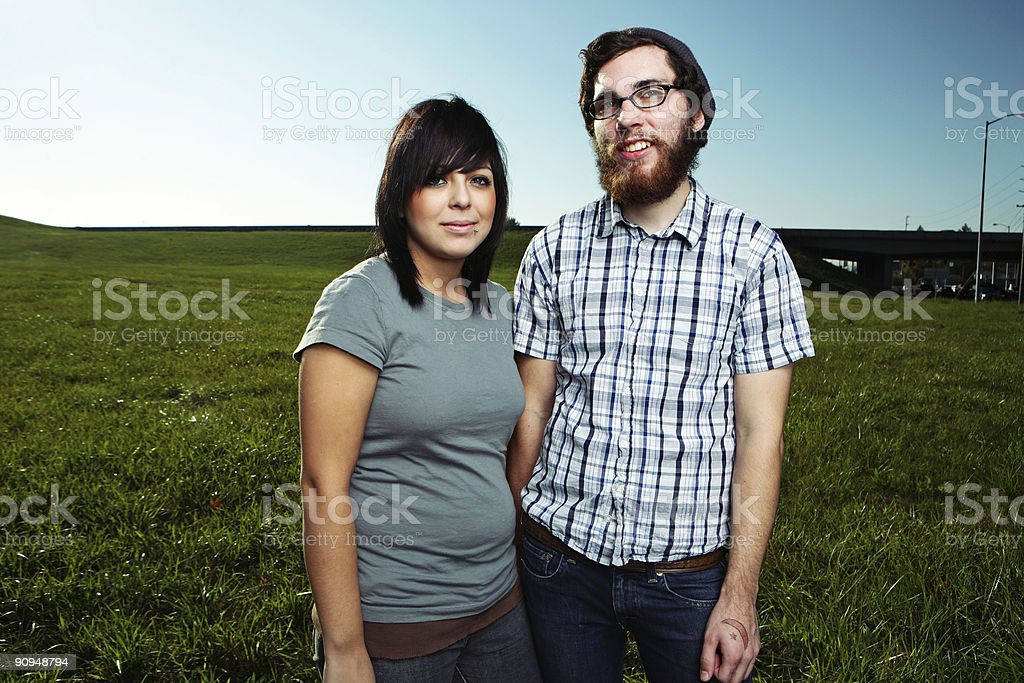 Male and Female Clear Sky Portrait royalty-free stock photo