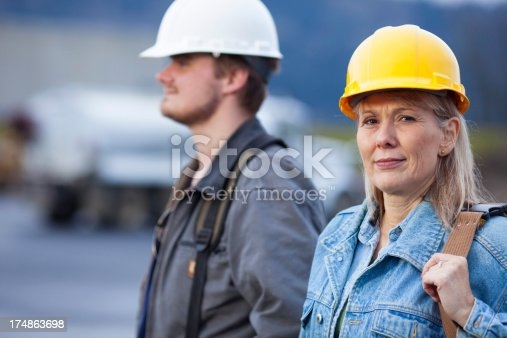 istock Male and Female Construction Worker 174863698