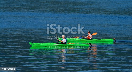458694311 istock photo Male and Female Kayakers 458720685