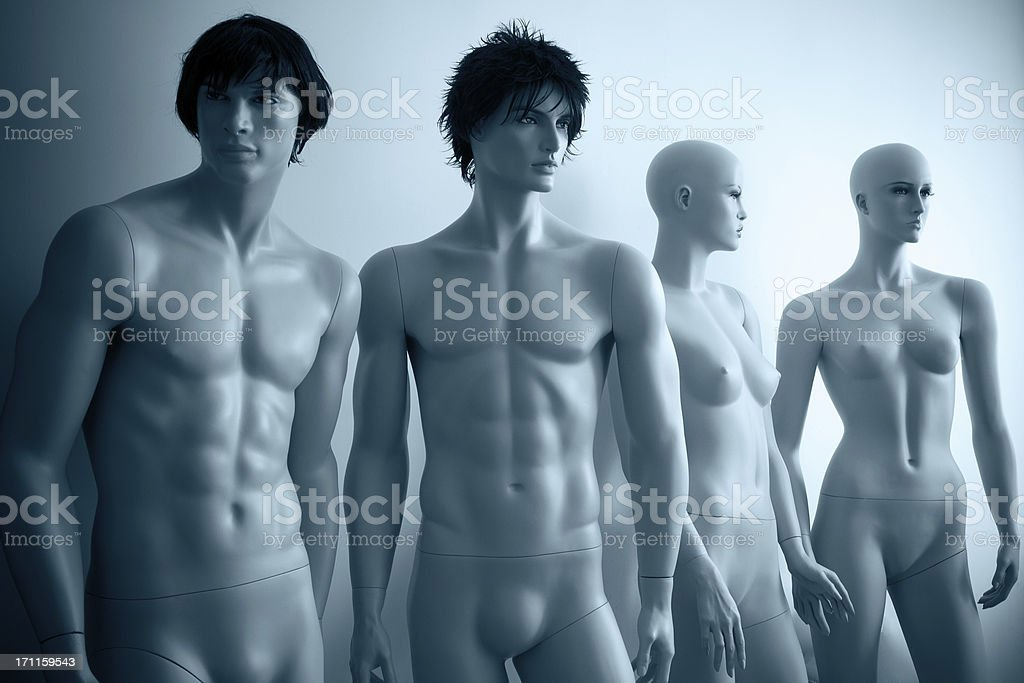 Male and Female Mannequins royalty-free stock photo