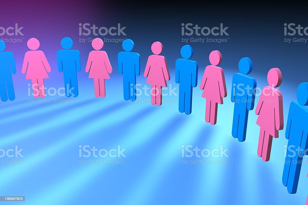 male and female royalty-free stock photo